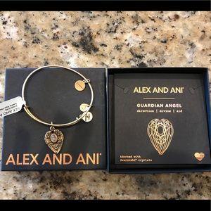 BNWT Alex and Ani Guardian Angel bracelet.
